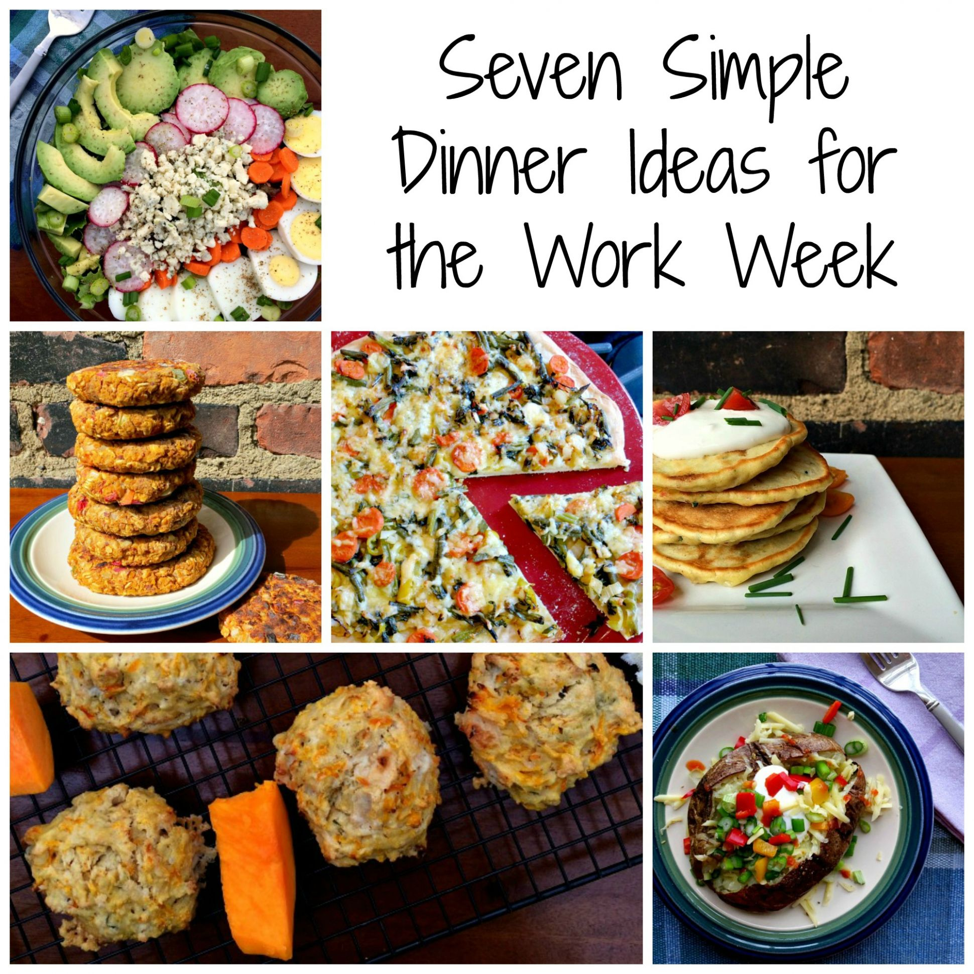 Seven Simple Dinner Ideas for the Work Week - Clean Eats, Fast Feets - Recipes Dinner This Week