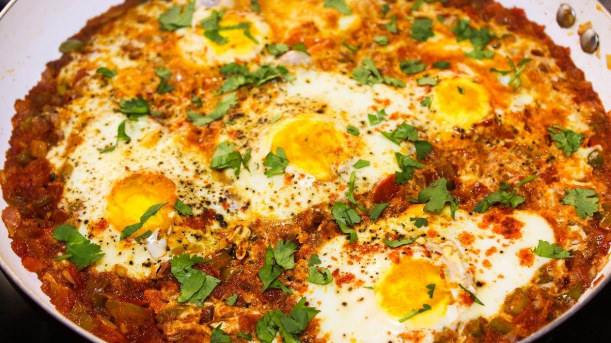 Shakshuka Egg Recipe | Easy Egg Recipes Indian | Egg Recipe For Dinner |  Kanak's Kitchen