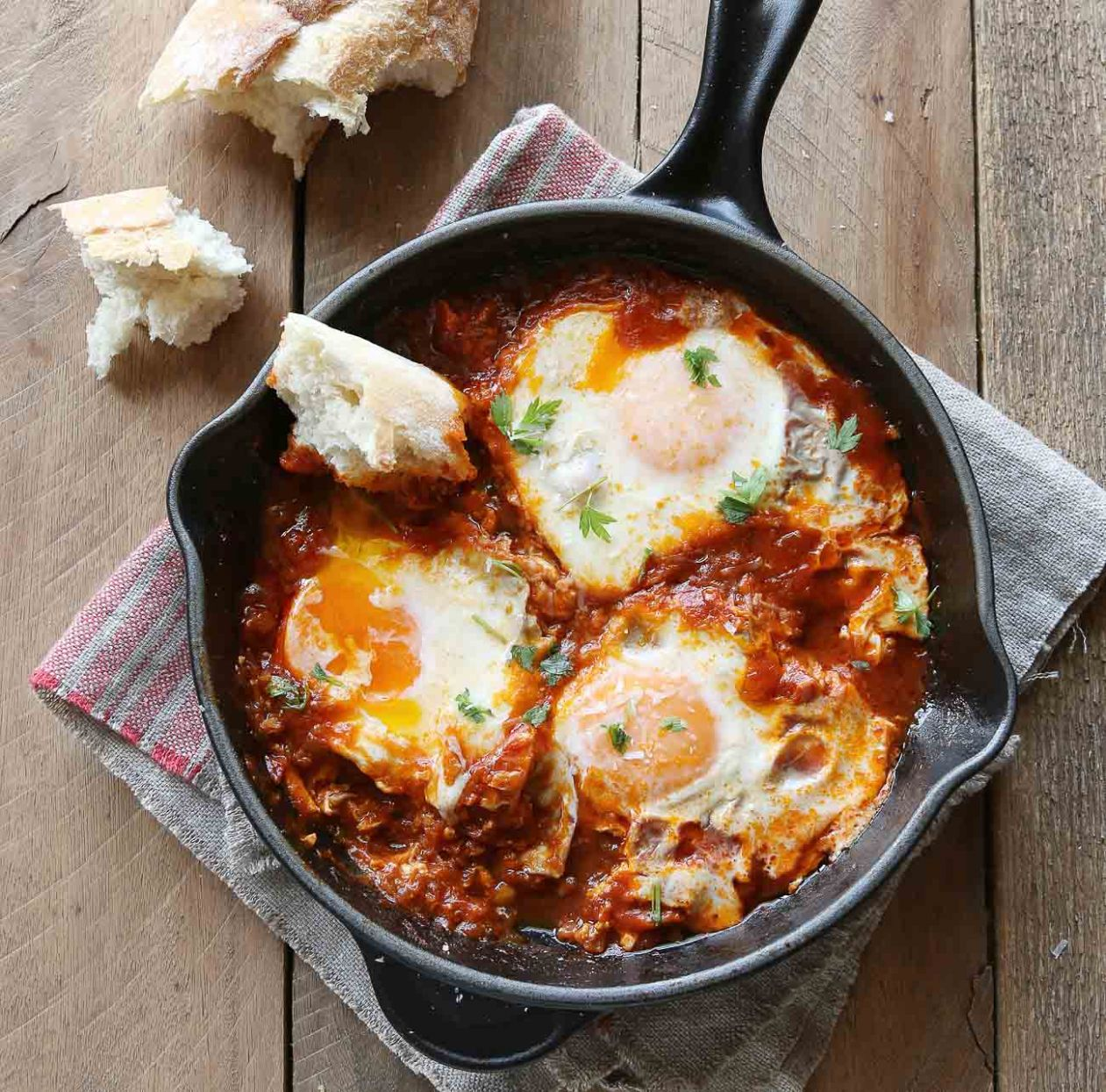 Shakshuka With Oats Recipe-A High Protein Breakfast - Breakfast Recipes Using Oats