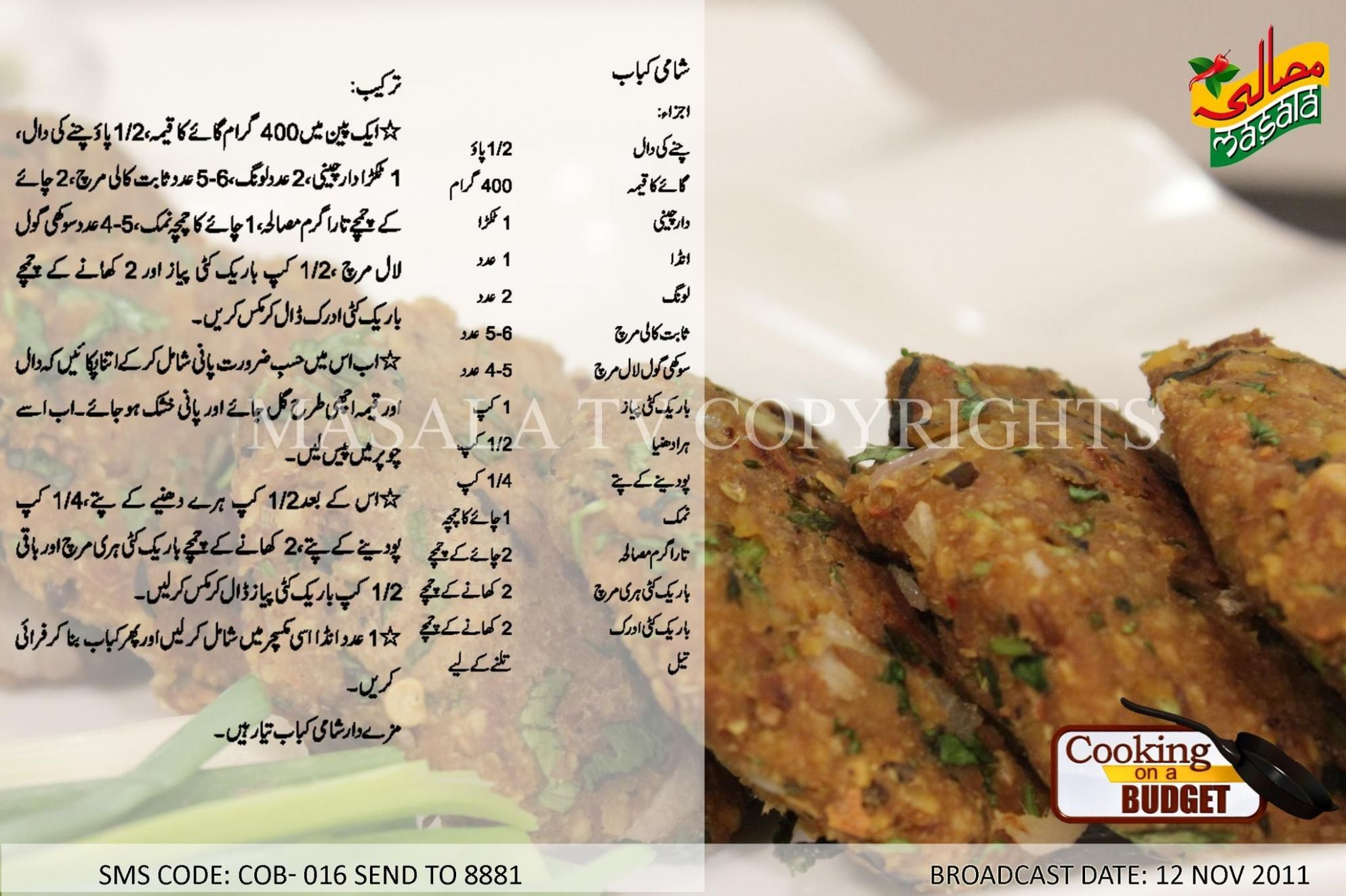 Shami Kabab (With images) | Easy cooking recipes, Ramadan recipes ..