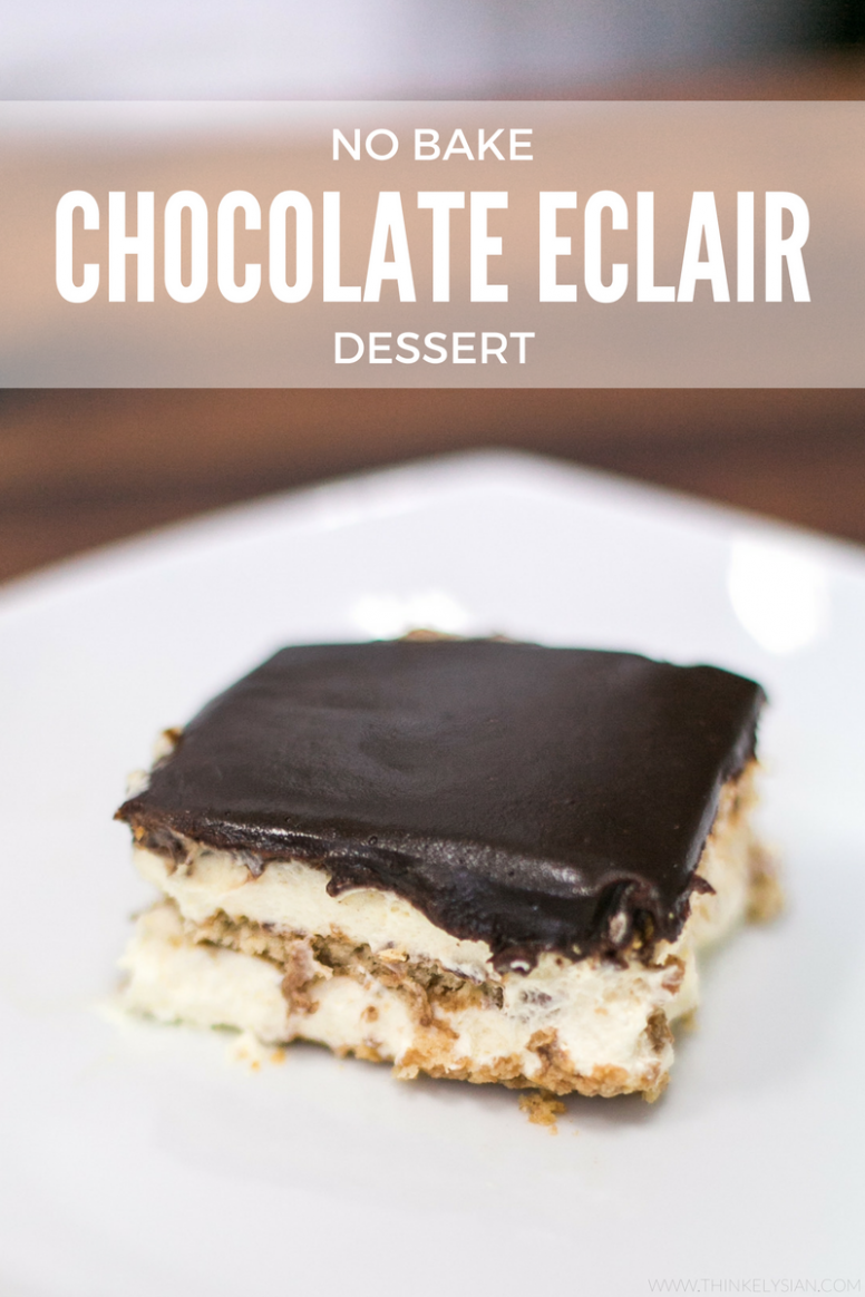 She's on the Loose - Chocolate Eclair Dessert - A No Bake Recipe ...