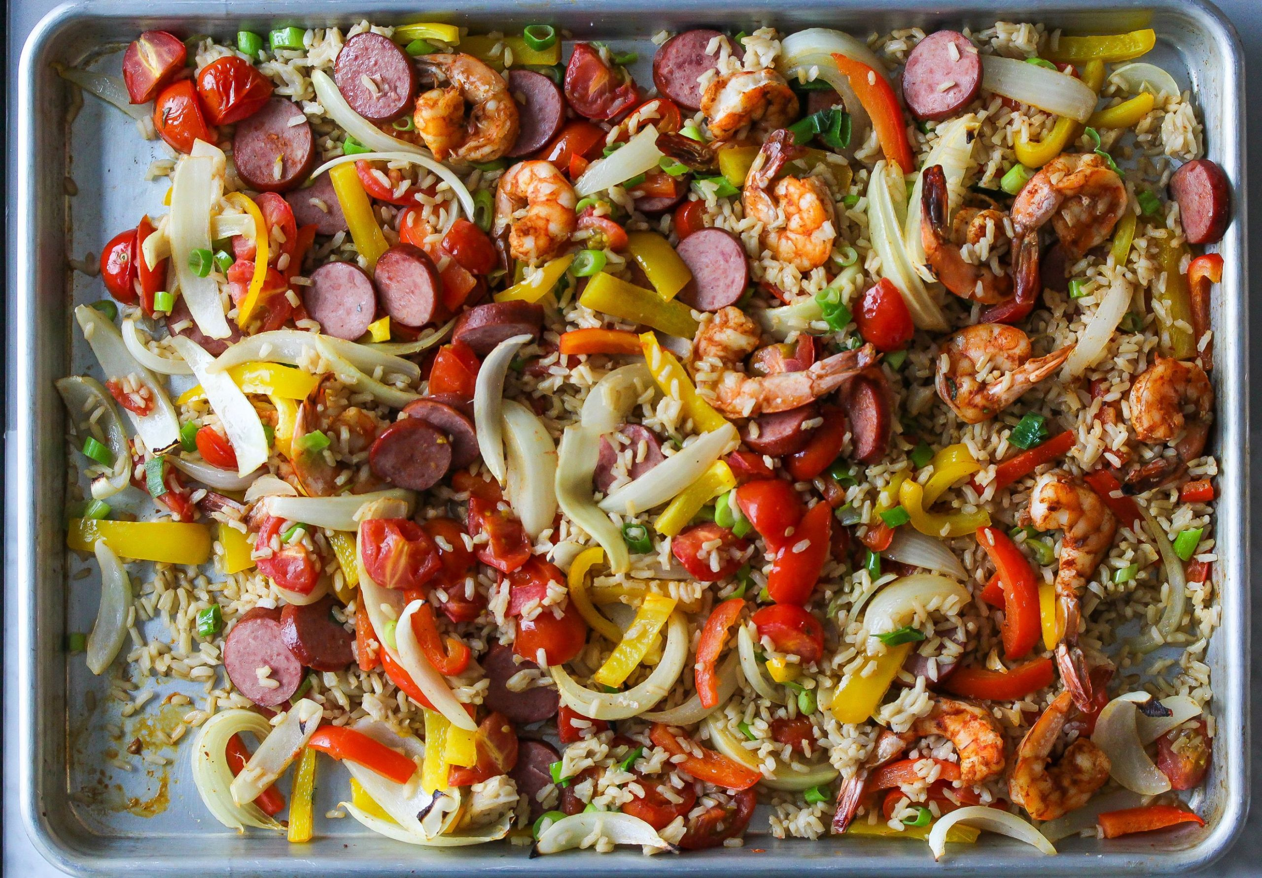 Sheet Pan Jambalaya Recipe | Cooking Light - Recipes Jambalaya Dinner