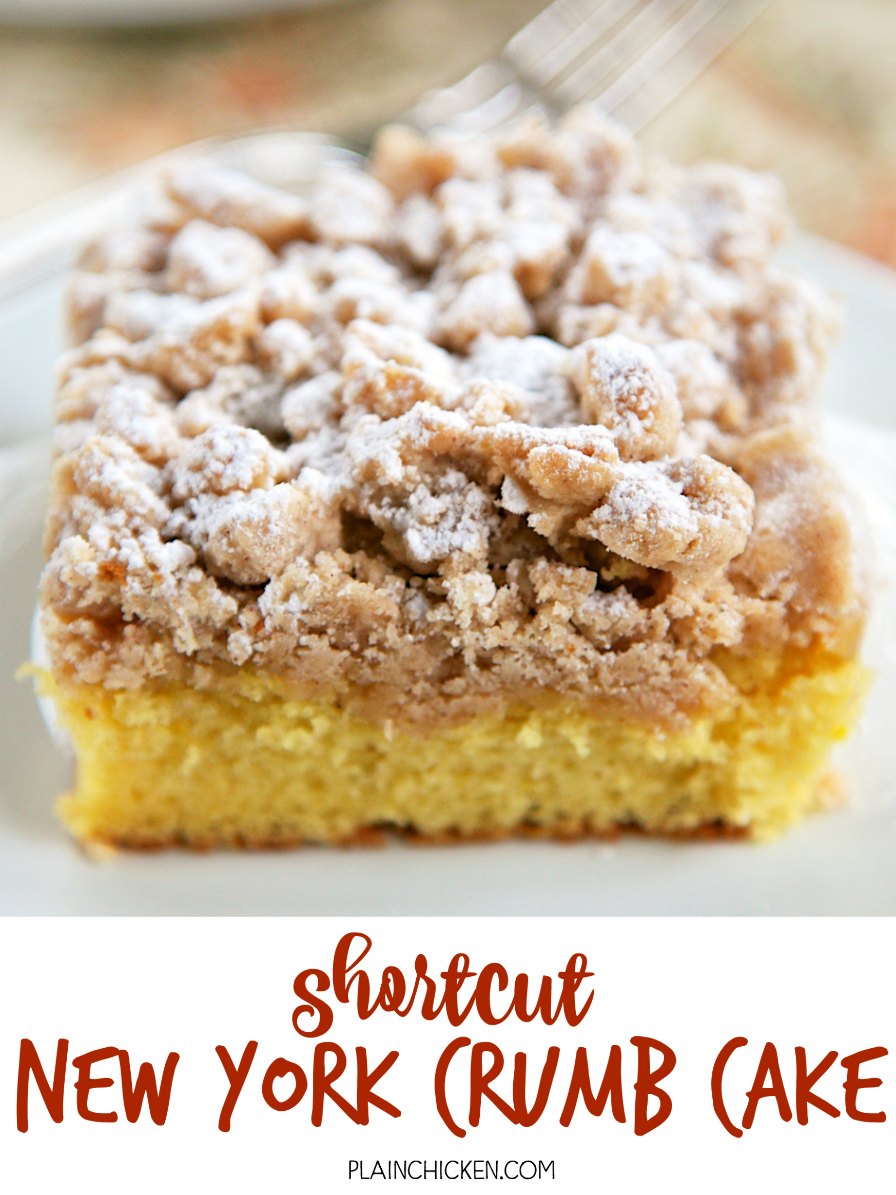 Shortcut New York Crumb Cake - yellow cake mix topped with an easy ...