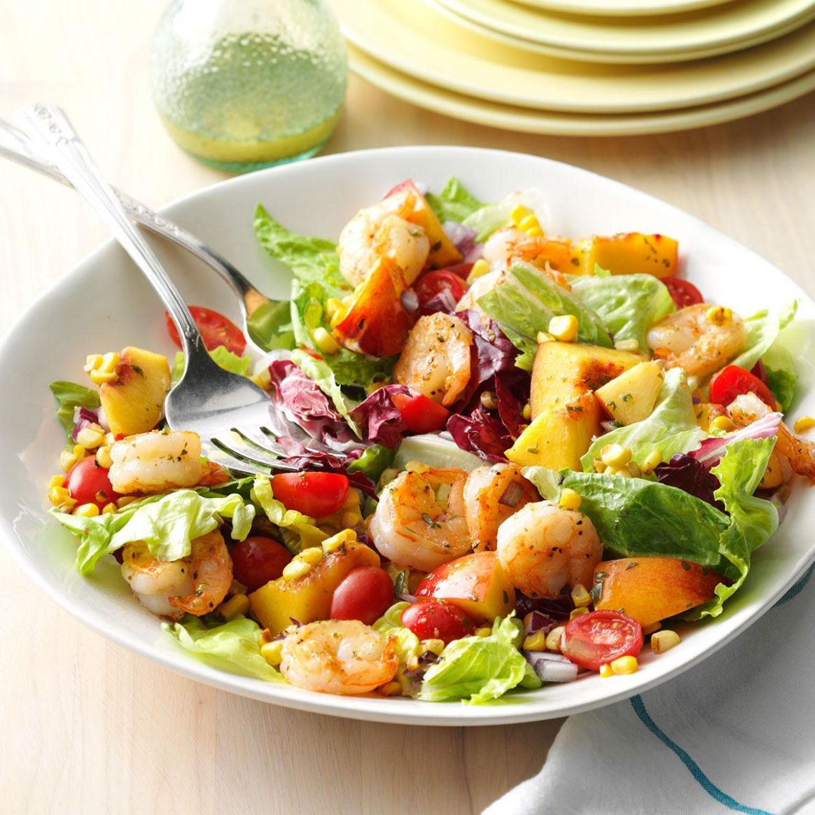 Shrimp & Nectarine Salad - Salad Recipes For Summer