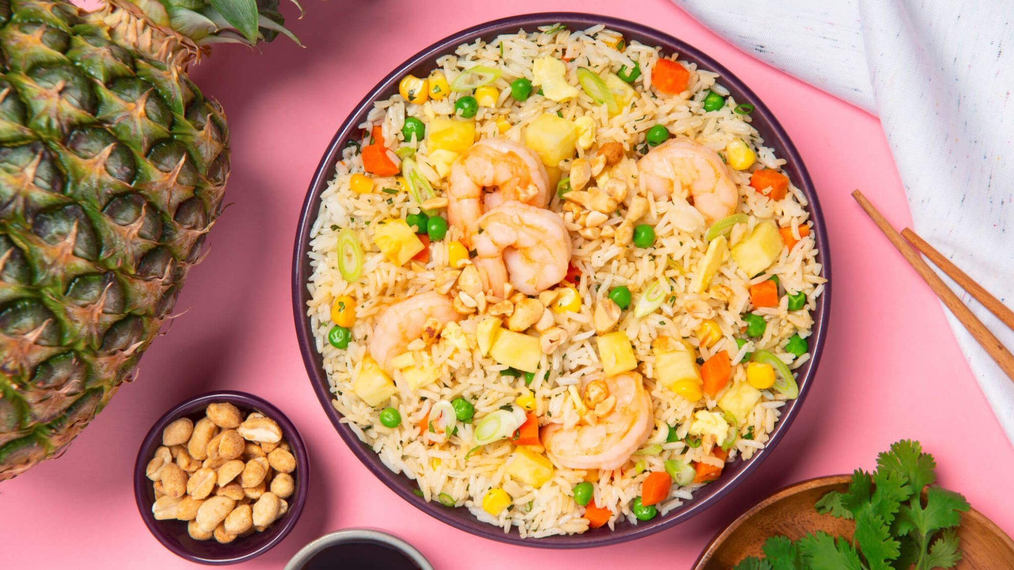 Shrimp Fried Rice with Pineapple and Egg - Recipes Rice With Pineapple