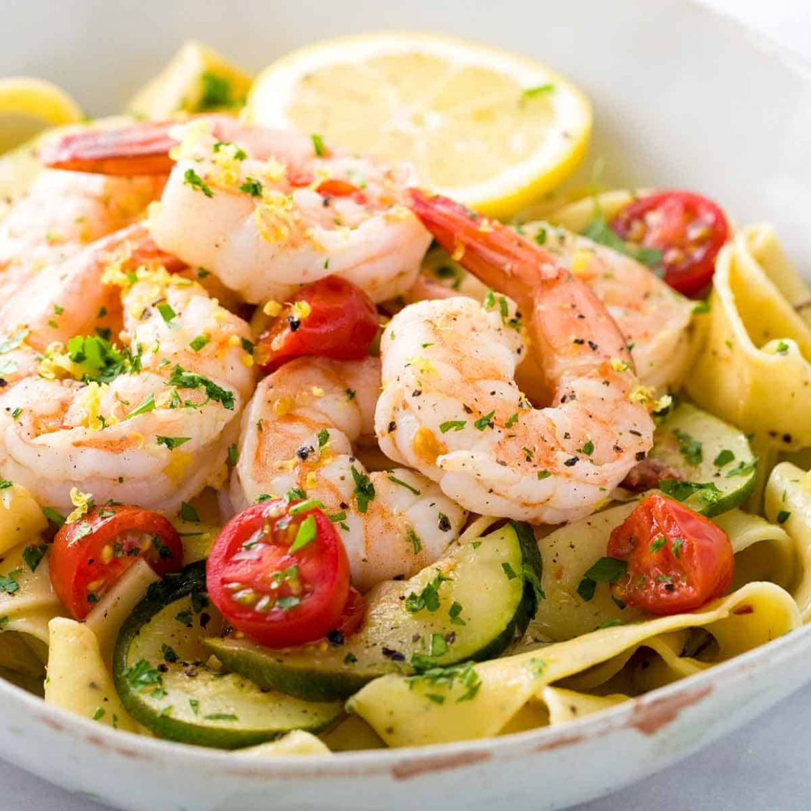 Shrimp Pasta with Lemon Garlic Sauce - Recipes Pasta And Shrimp