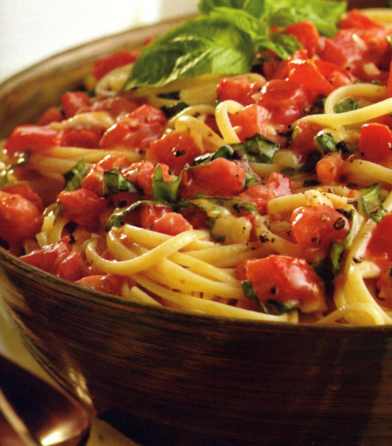 Silver Palate Cookbook Summer Pasta Recipe Linguine, Tomatoes ...