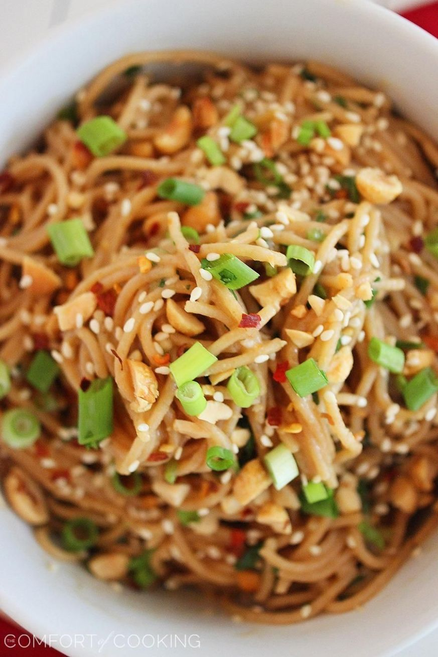 Simple Asian Soy-Peanut Noodles   Food recipes, Cooking recipes ..