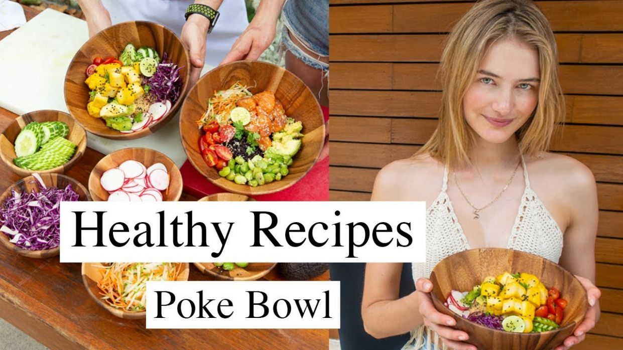 Simple Model Recipes | Healthy, Quick, & Tasty Poke Bowl | Sanne Vloet - Healthy Recipes Simple