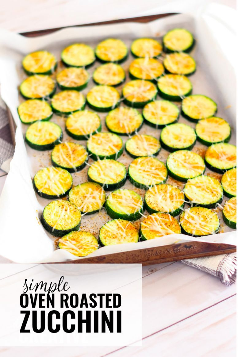 Simple Oven Roasted Zucchini | Domestically Creative - Recipes For Cooking Zucchini