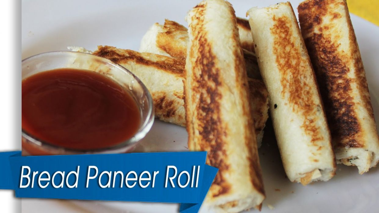 Simple Snack Recipe Bread Paneer Roll - Simple Recipes Using Bread