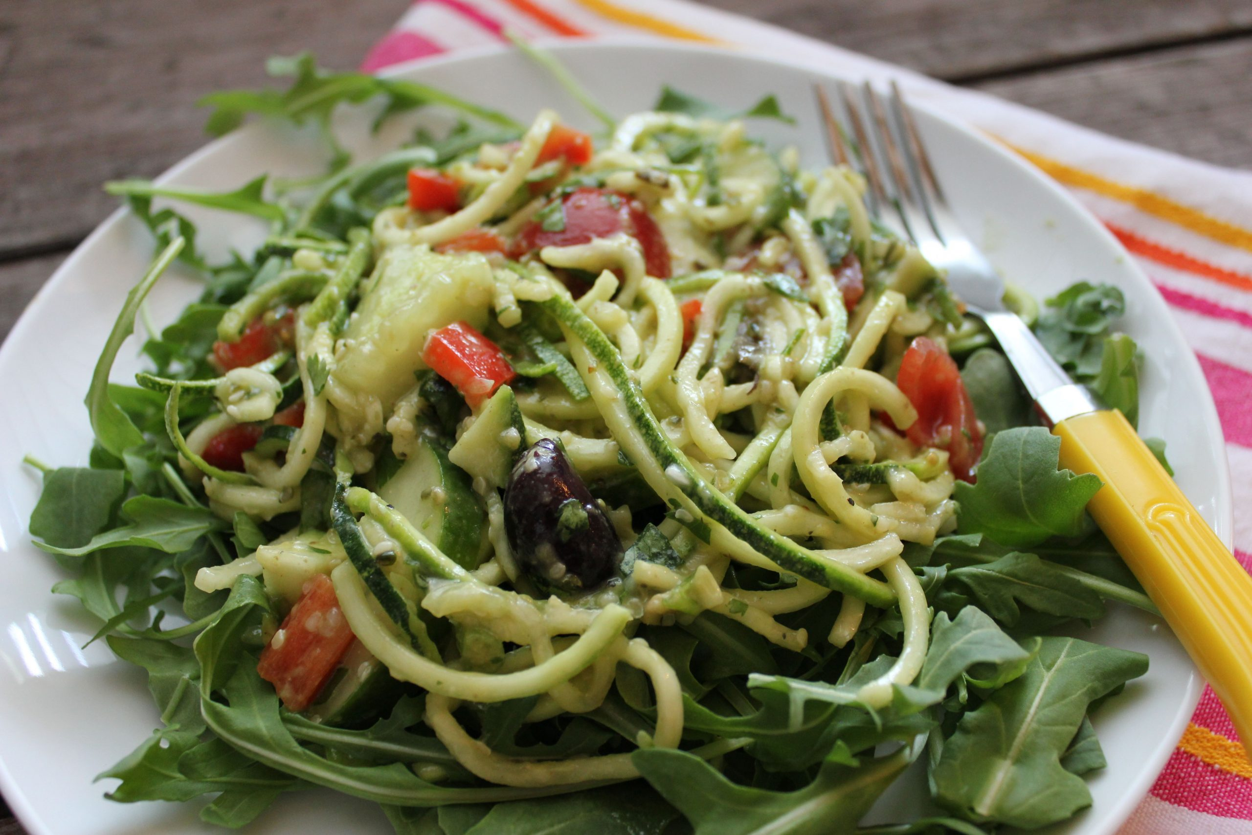 "Simple Summer Salad: Zucchini ""pasta"" salad"