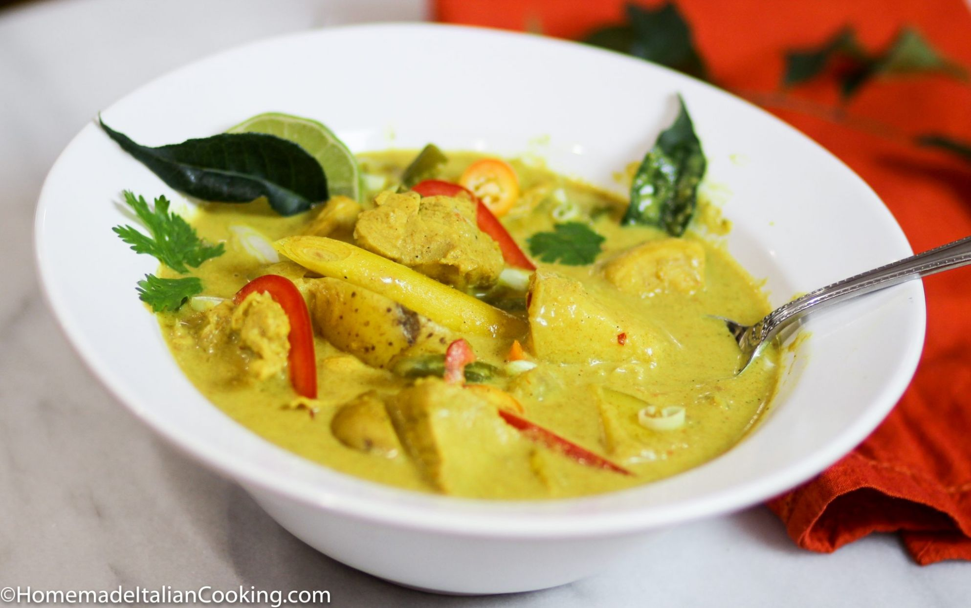 Singapore Grand Prix: Yellow Curry with Chicken and Potatoes