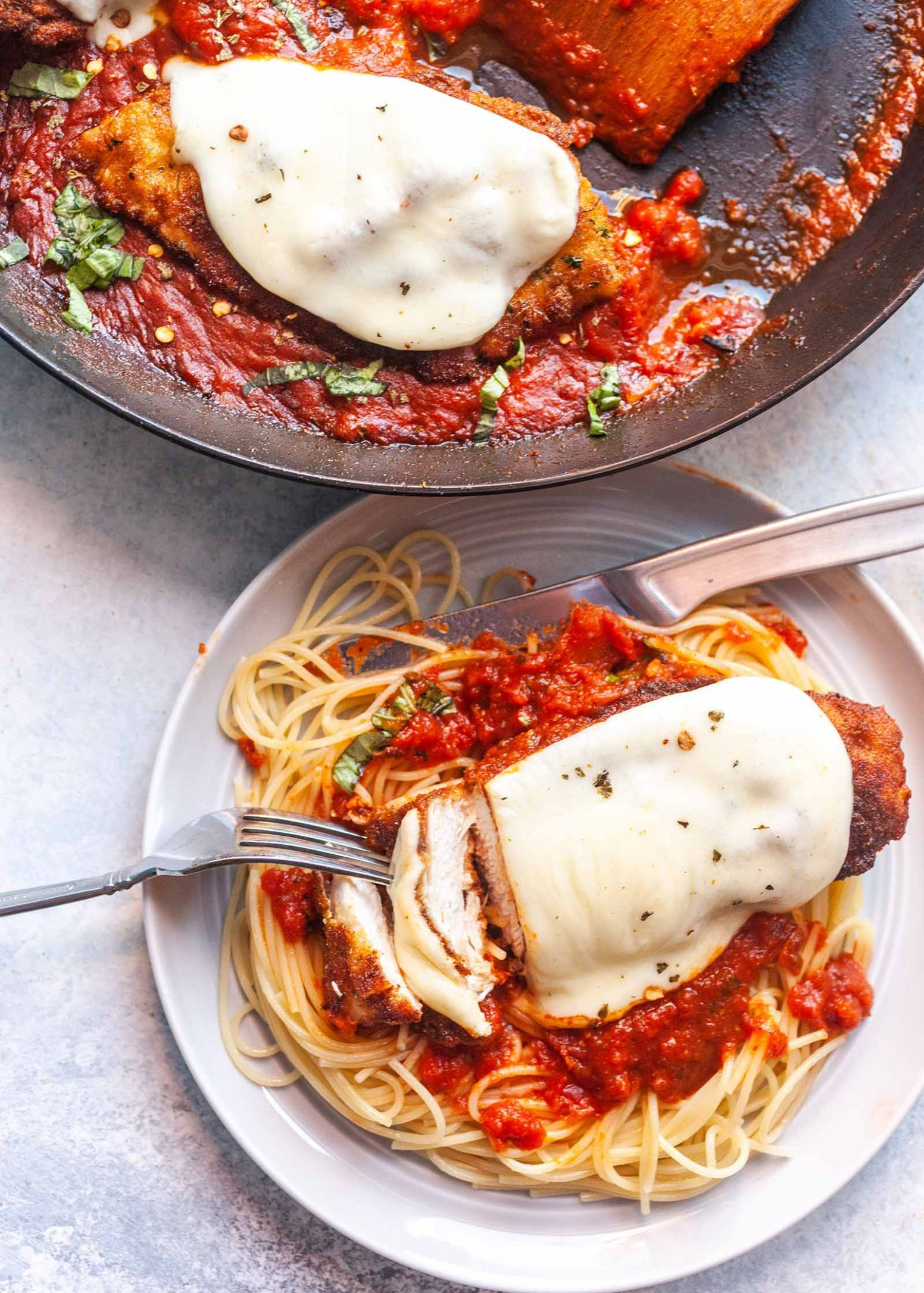 Skillet Chicken Parmesan - Recipes Chicken Parmesan