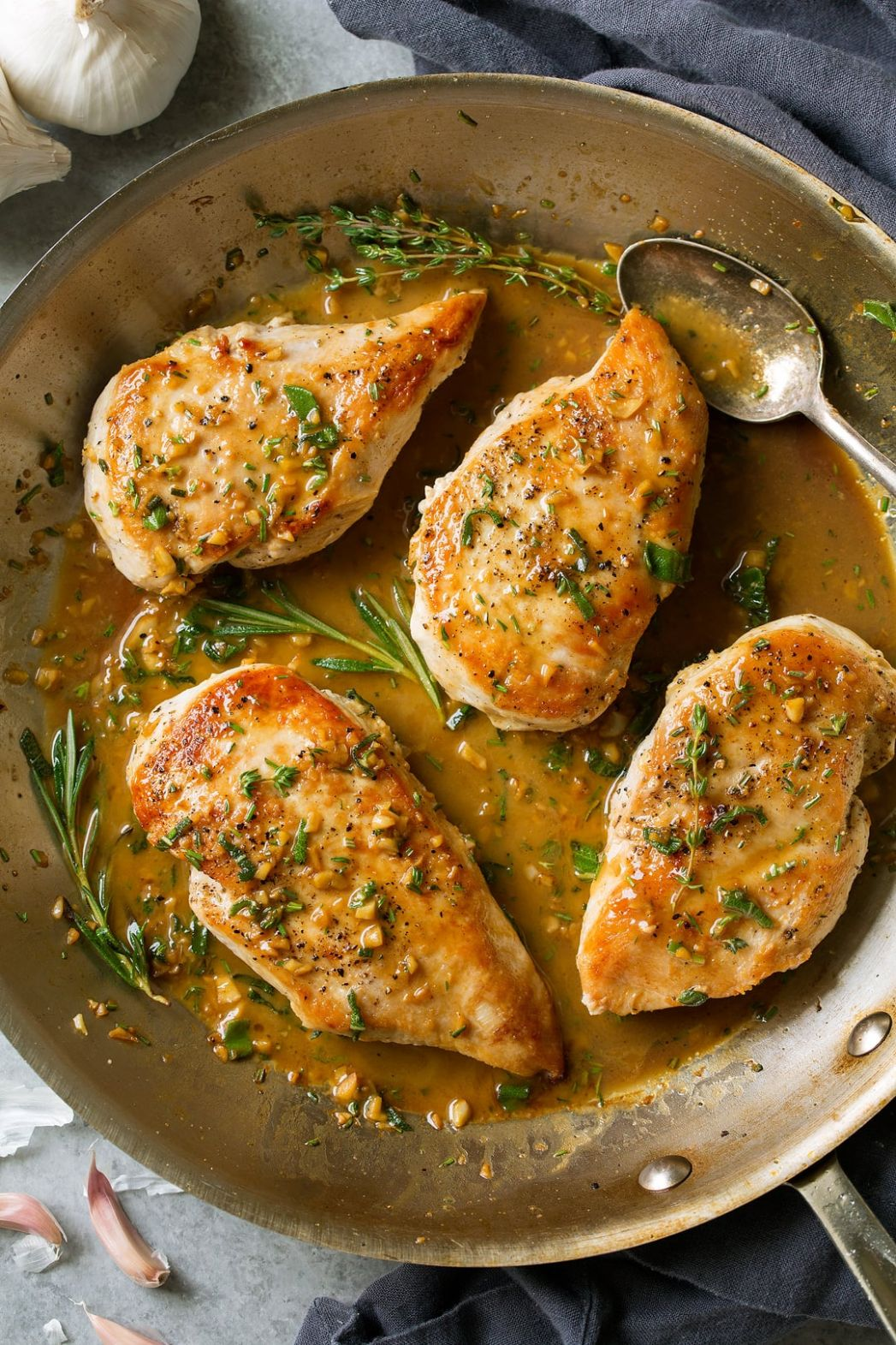Skillet Chicken Recipe with Garlic Herb Butter Sauce - Cooking Classy - Recipes Chicken Breast Stovetop