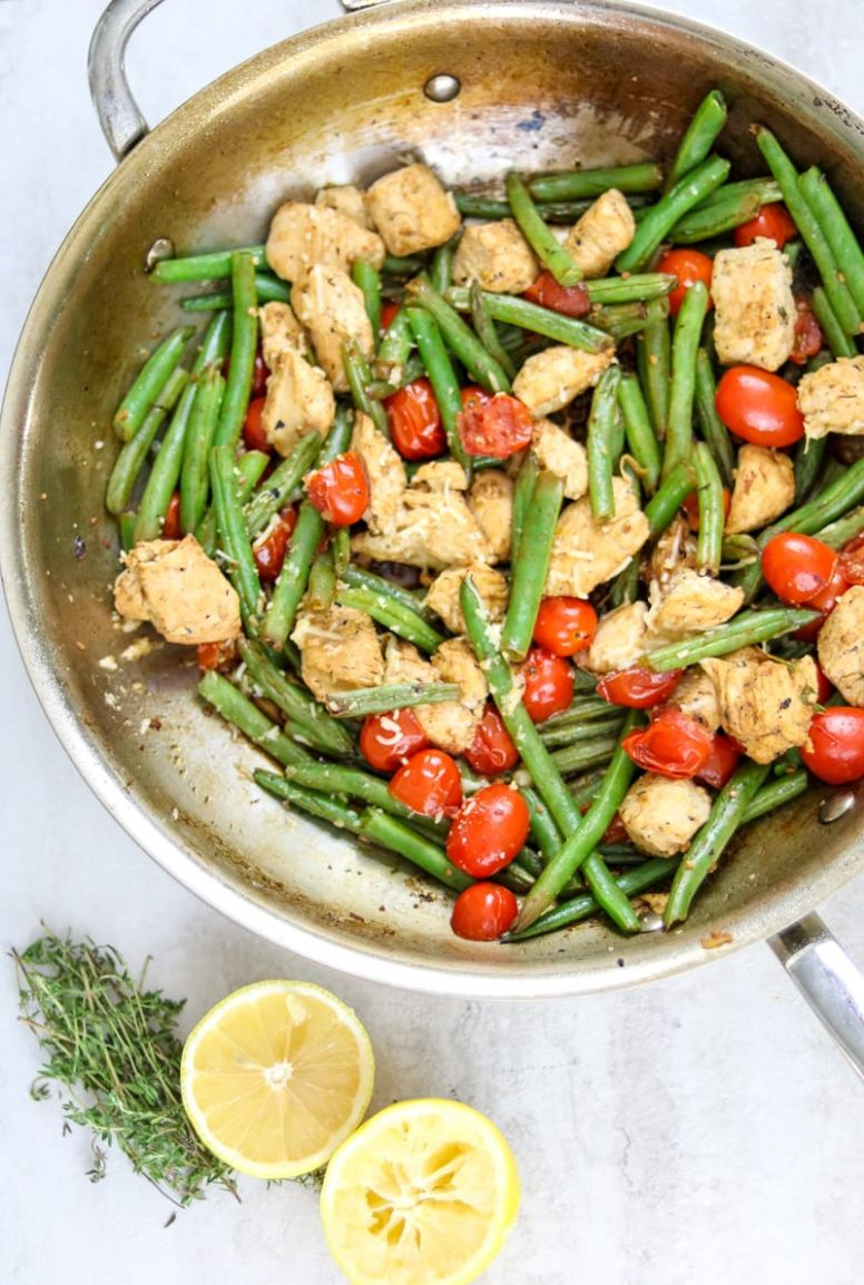 Skillet Chicken with Green Beans and Tomatoes: One Pan Meal - Recipes Chicken Green Beans