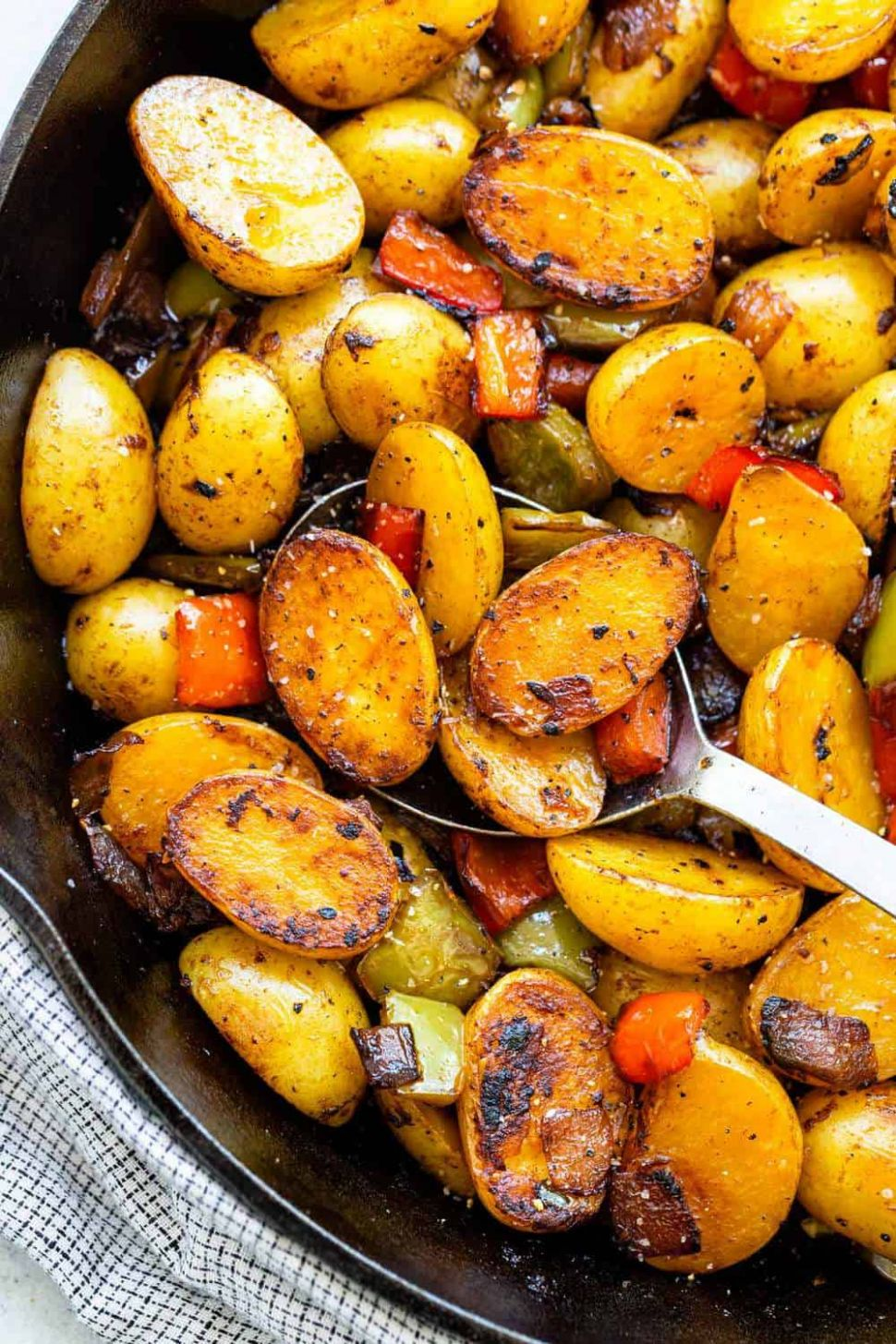 Skillet Potatoes with Peppers - Potato Recipes On Stove