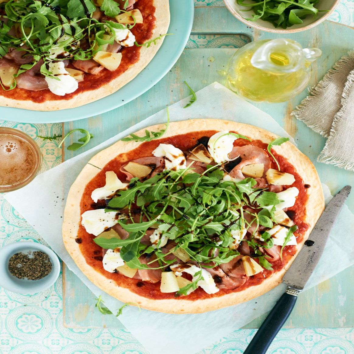 Skinny hawaiian pizzas - Summer Recipes Good Housekeeping