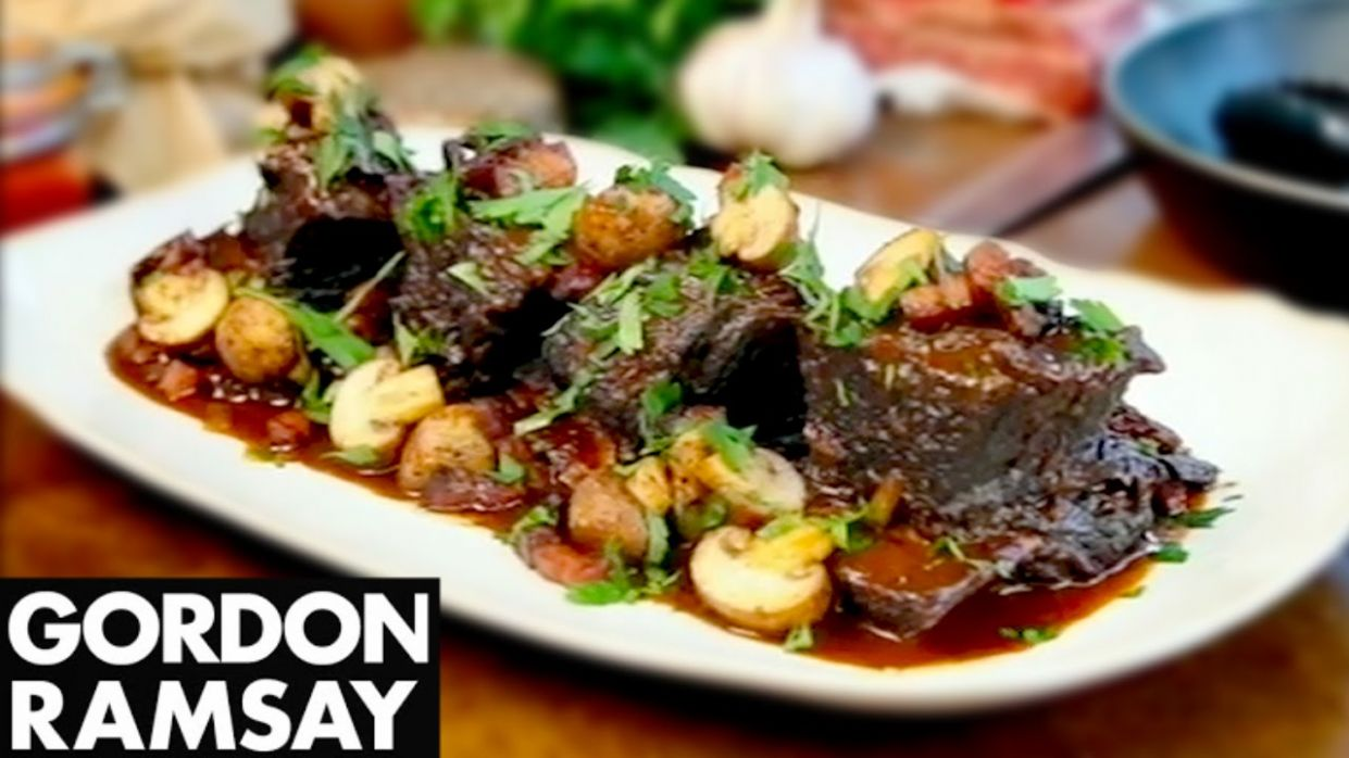 Slow Cooked Beef Short Ribs - Gordon Ramsay - Recipes Beef Short Ribs