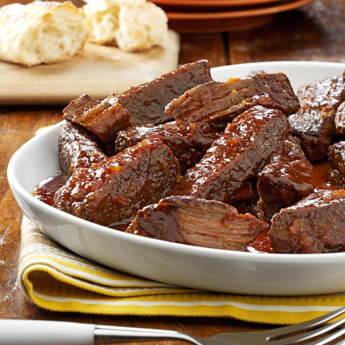 Slow-Cooked Short Ribs - Recipes Beef Ribs Slow Cooker