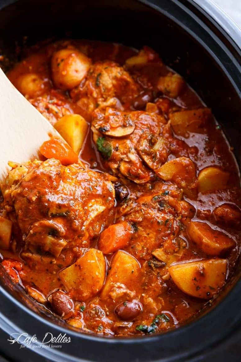 Slow Cooker Chicken Cacciatore With Potatoes - Recipes Chicken Drumsticks Casserole