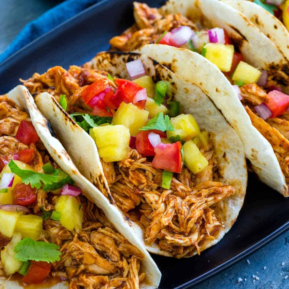 Slow Cooker Chicken Tacos - Recipes Chicken Tacos