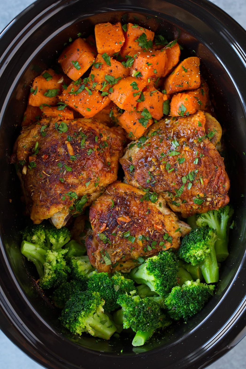 Slow Cooker Chicken with Sweet Potatoes and Broccoli - Recipes Chicken Drumsticks Slow Cooker