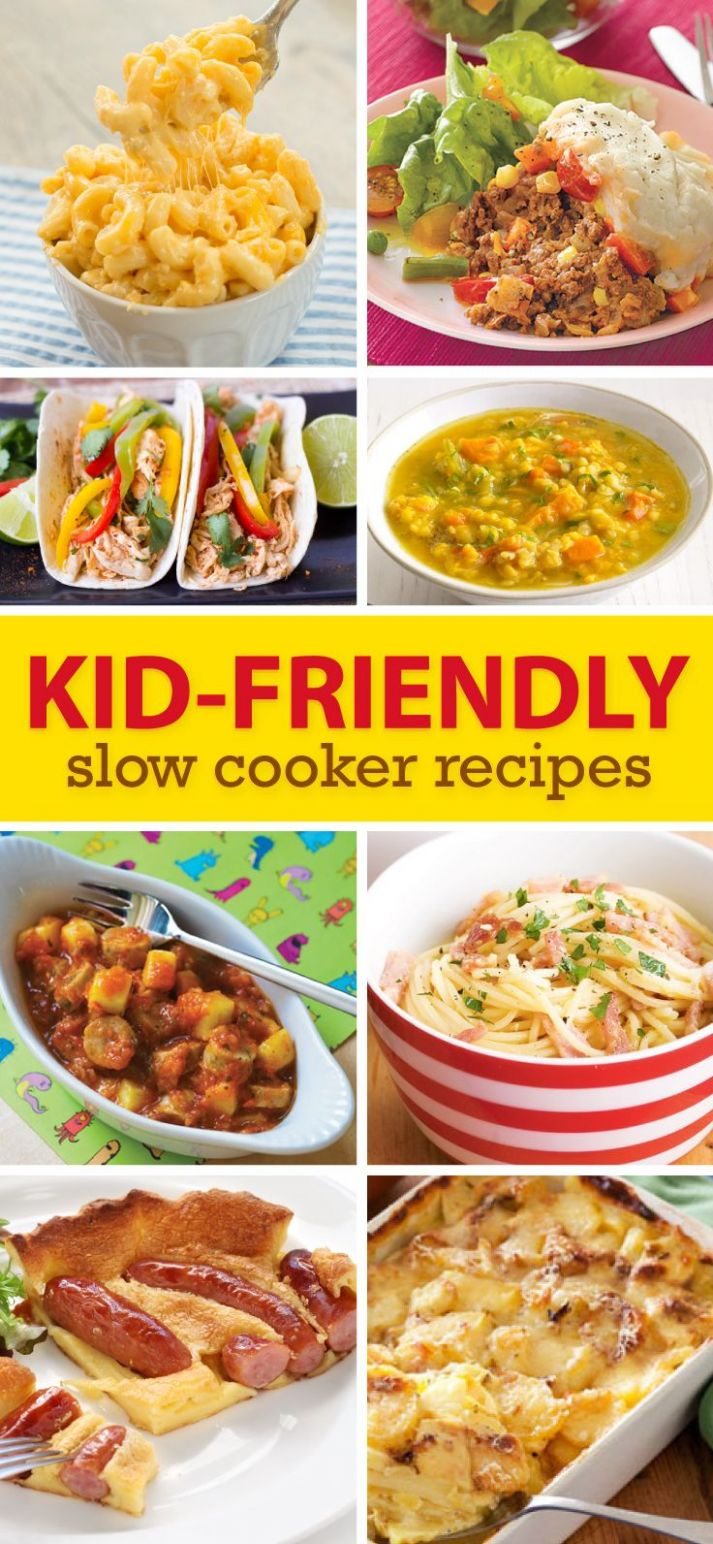 Slow Cooker Meals For Kids | Slow cooker recipes, Kids cooking ..