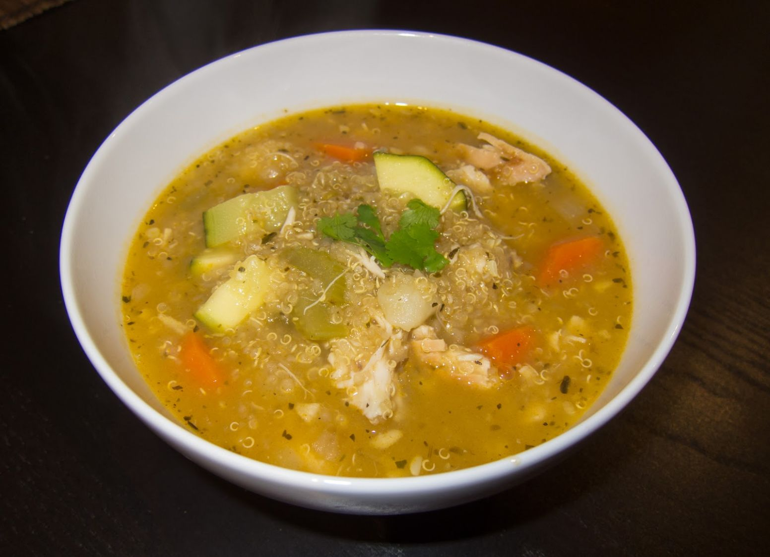 Slow Cooker Peruvian Chicken Quinoa Soup
