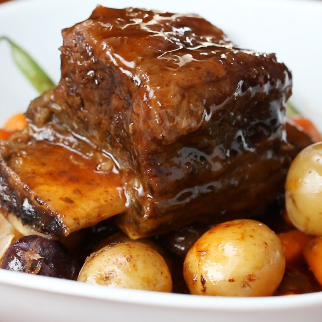 Slow Cooker Short Ribs Recipe by Tasty - Recipes Beef Ribs Slow Cooker