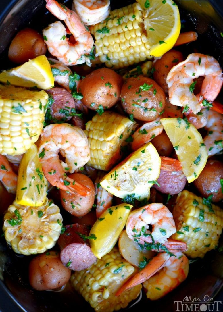 Slow Cooker Shrimp Boil - Dinner Recipes Crockpot