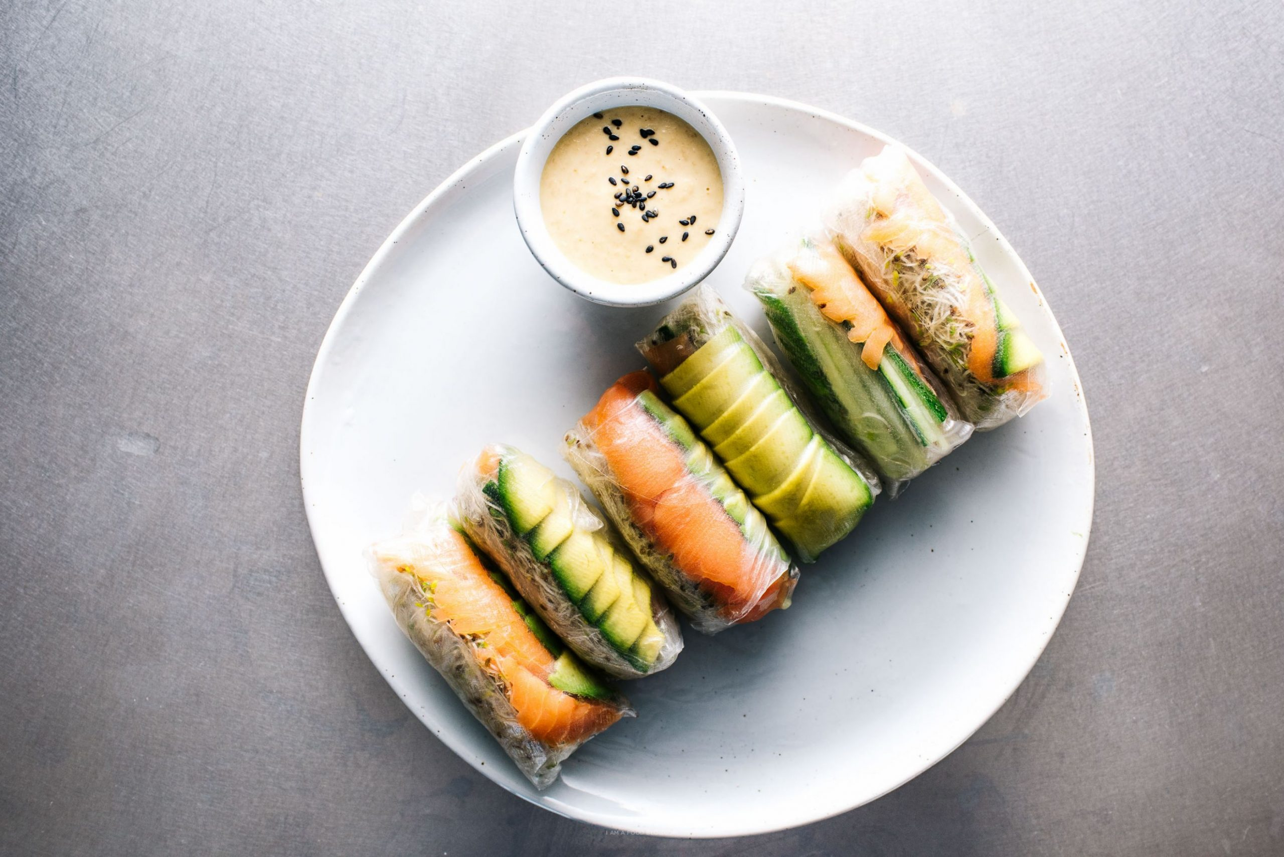 Smoked Salmon and Avocado Summer Rolls