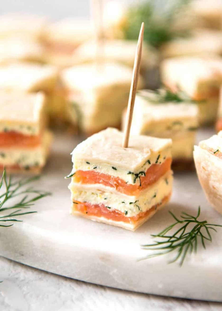 Smoked Salmon Bites (Appetizer) - Simple Recipes Appetizers Finger Food