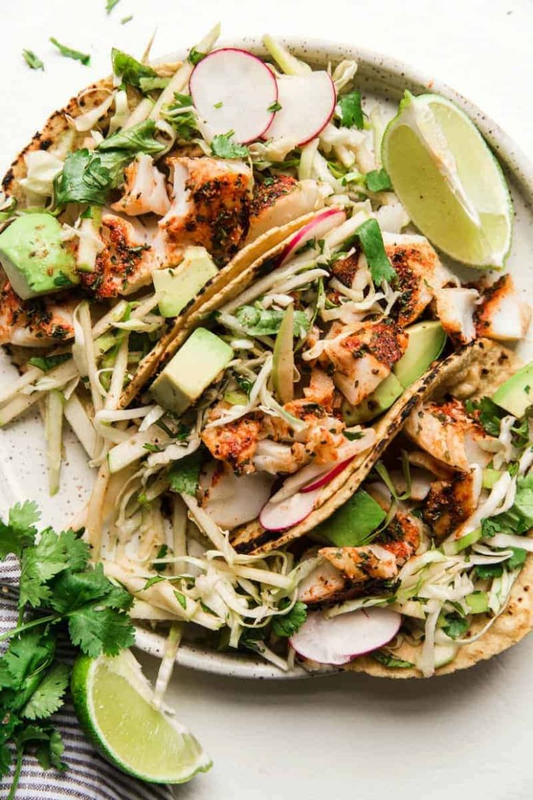 Smoky Paprika Fish Tacos with an Apple Slaw - Recipe Fish Tacos Slaw