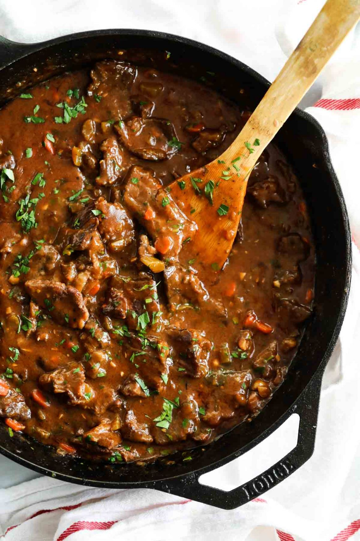 Smothered Beef Tips