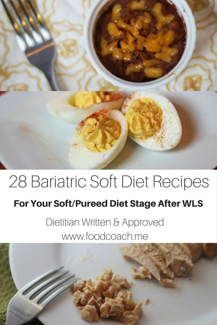 Soft and Pureed Recipes After Bariatric Surgery - | BE | Pureed ...