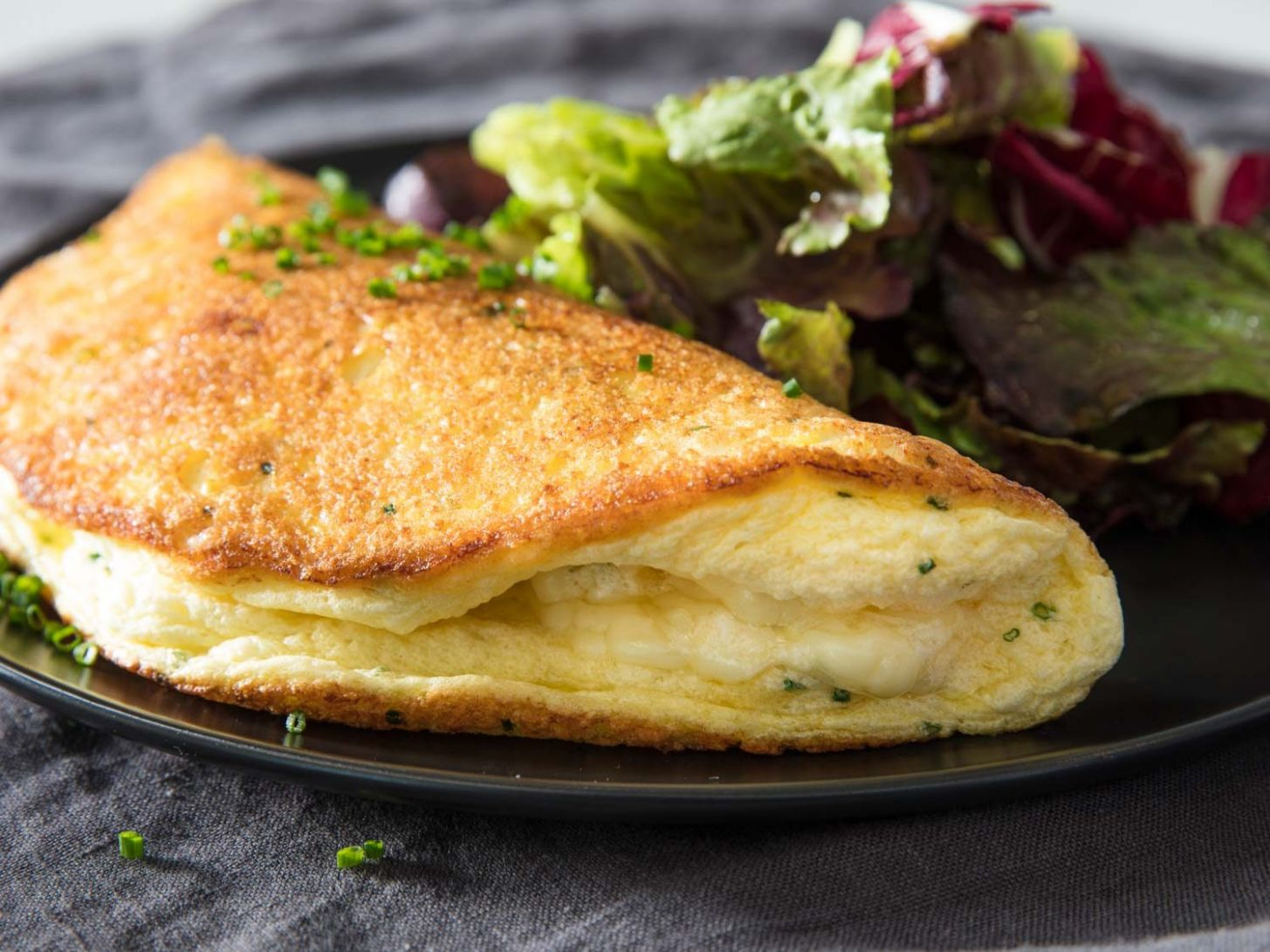 Soufflé Omelette With Cheese Recipe - Recipe Egg Omelette Cheese