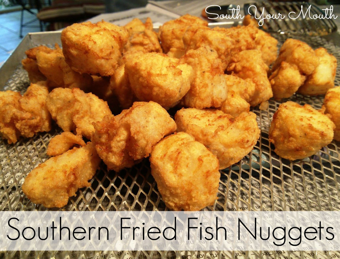 South Your Mouth: Southern Fried Fish Nuggets - Recipe Fish Nuggets