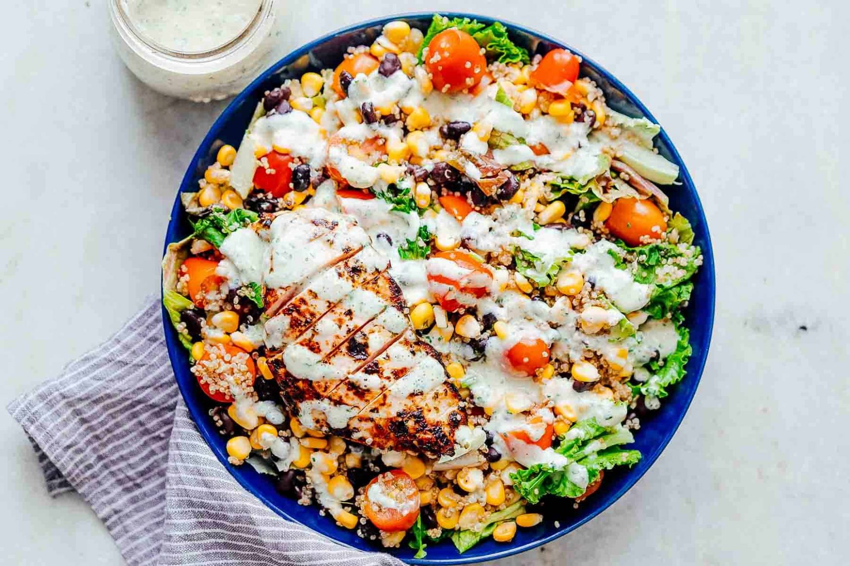 Southwest Chicken Quinoa Bean Salad - Recipe Chicken Quinoa Salad