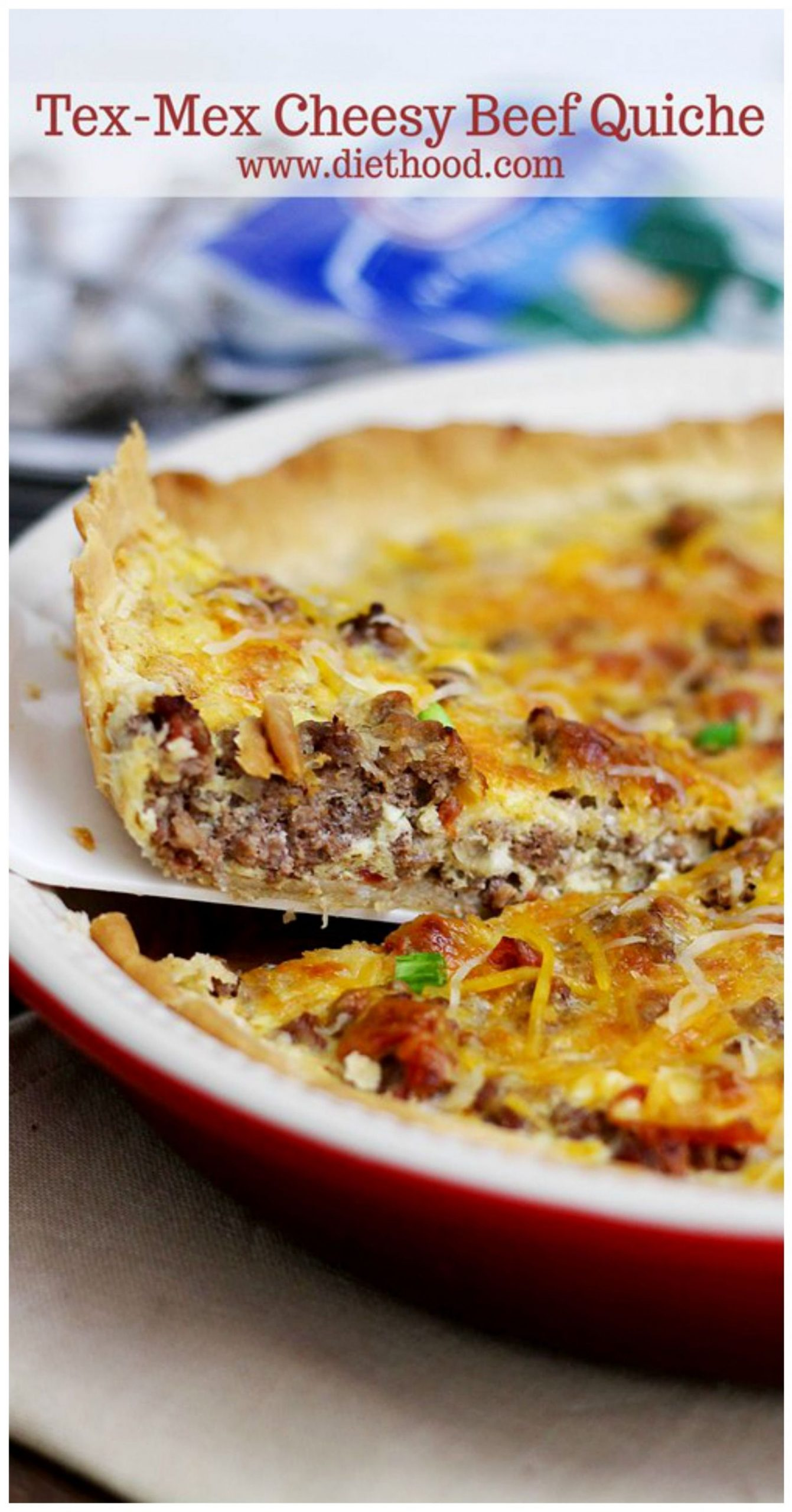 Southwest} This Tex-Mex Cheesy Beef Quiche is a great weeknight ..