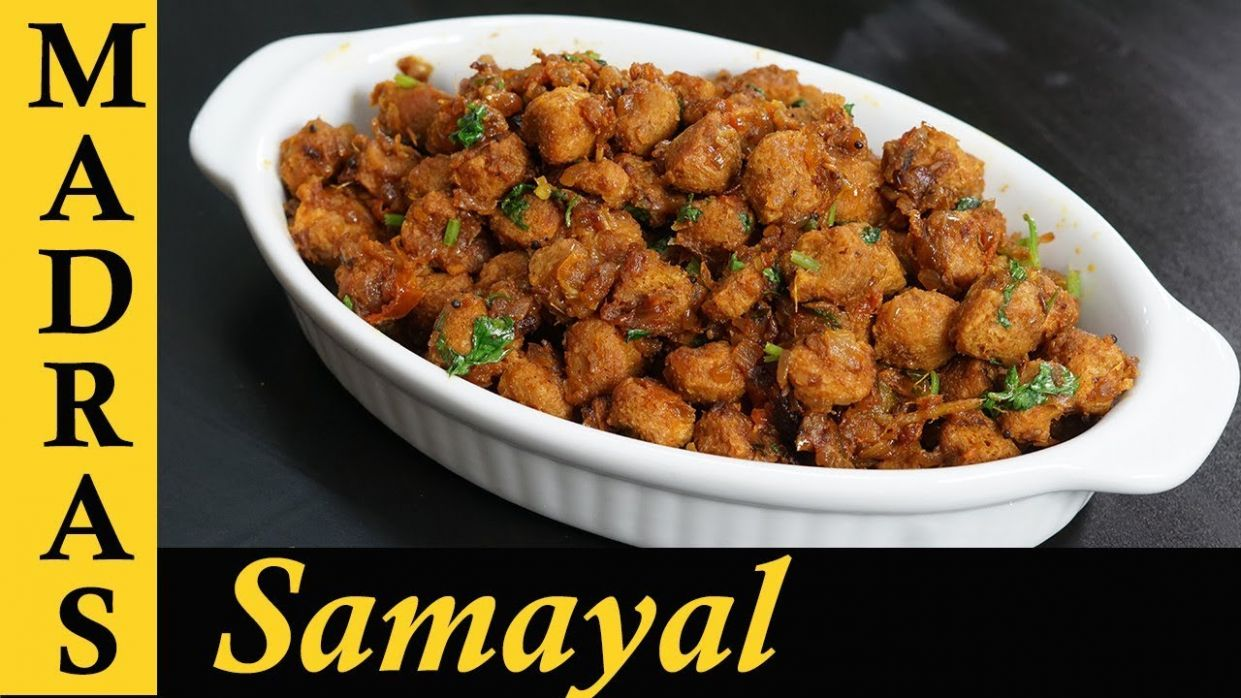 Soya Chunks Recipe in Tamil | Soya Chunks Fry Recipe | Meal Maker Fry in  Tamil