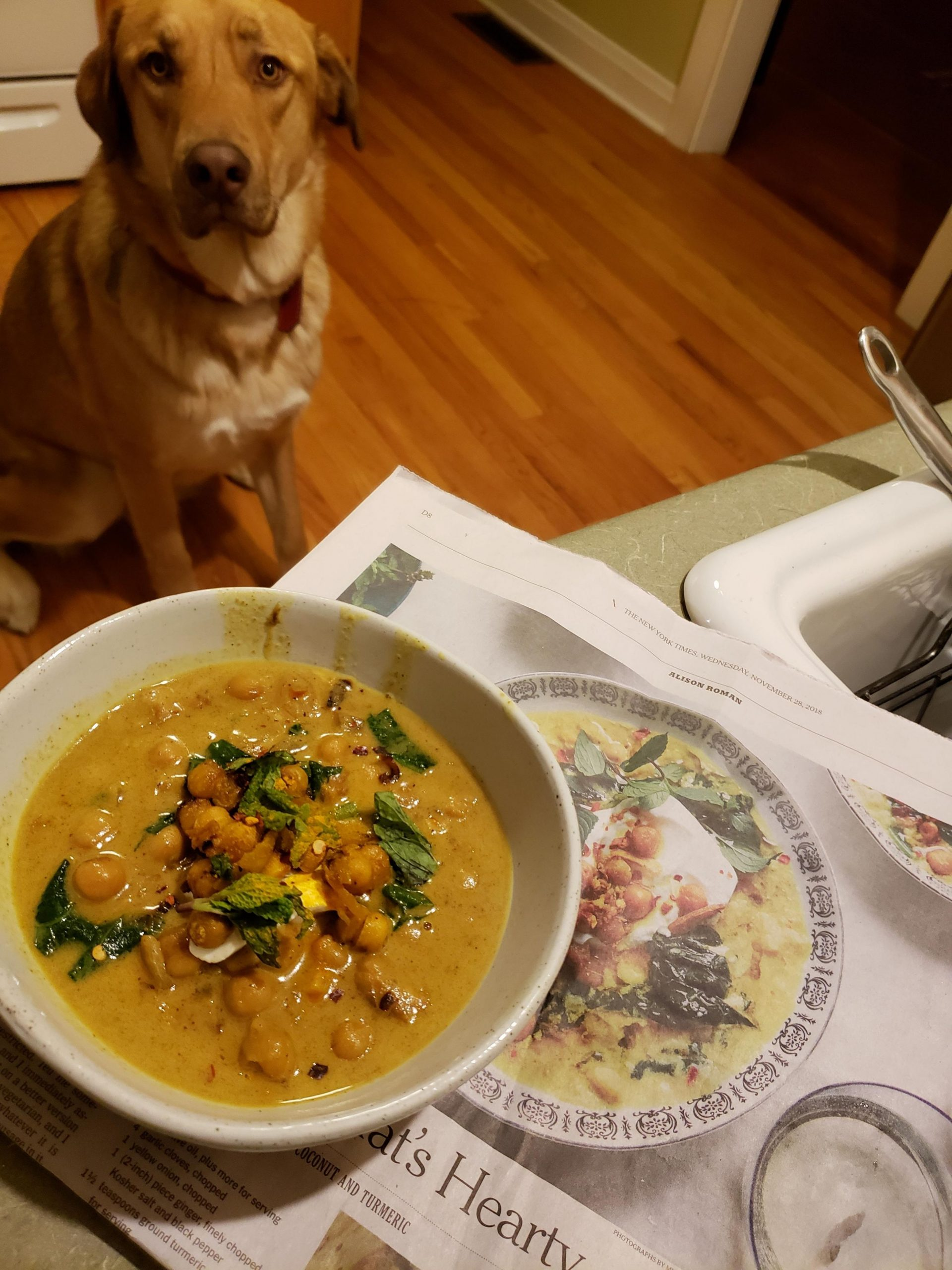 Spiced chickpea soup with coconut and turmeric. From this weeks NY ...