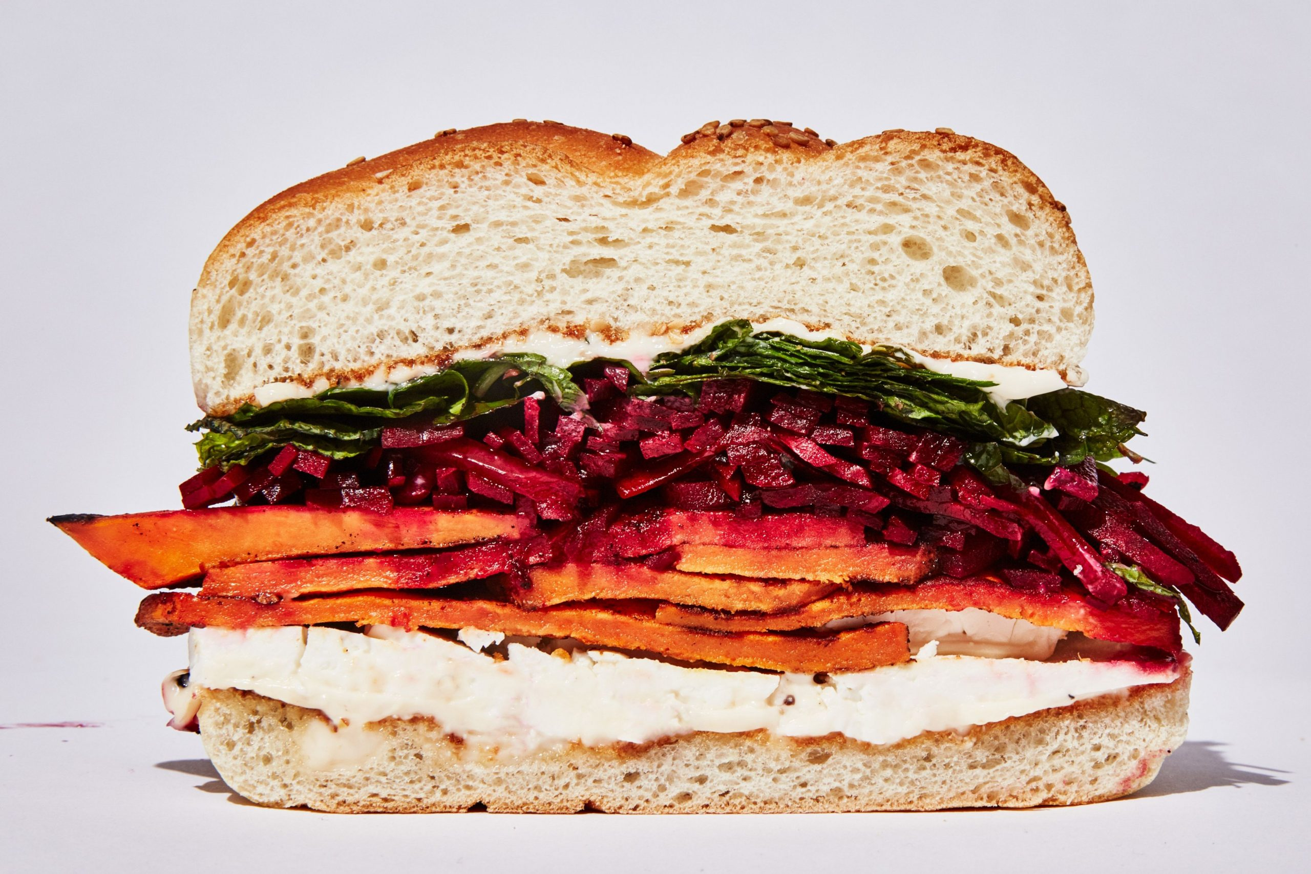 Spiced Sweet Potato Sandwich with Feta - Sandwich Recipes Epicurious
