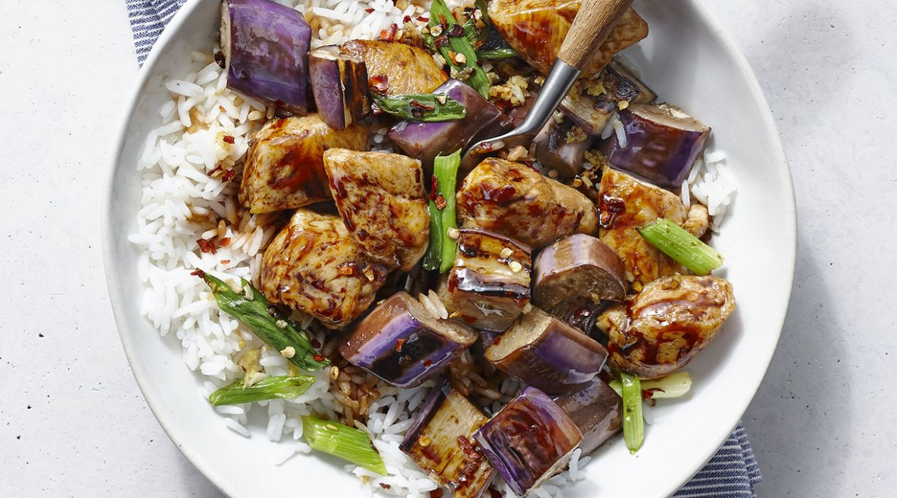 Spicy Chicken and Eggplant Stir-Fry - Recipes Chicken Eggplant
