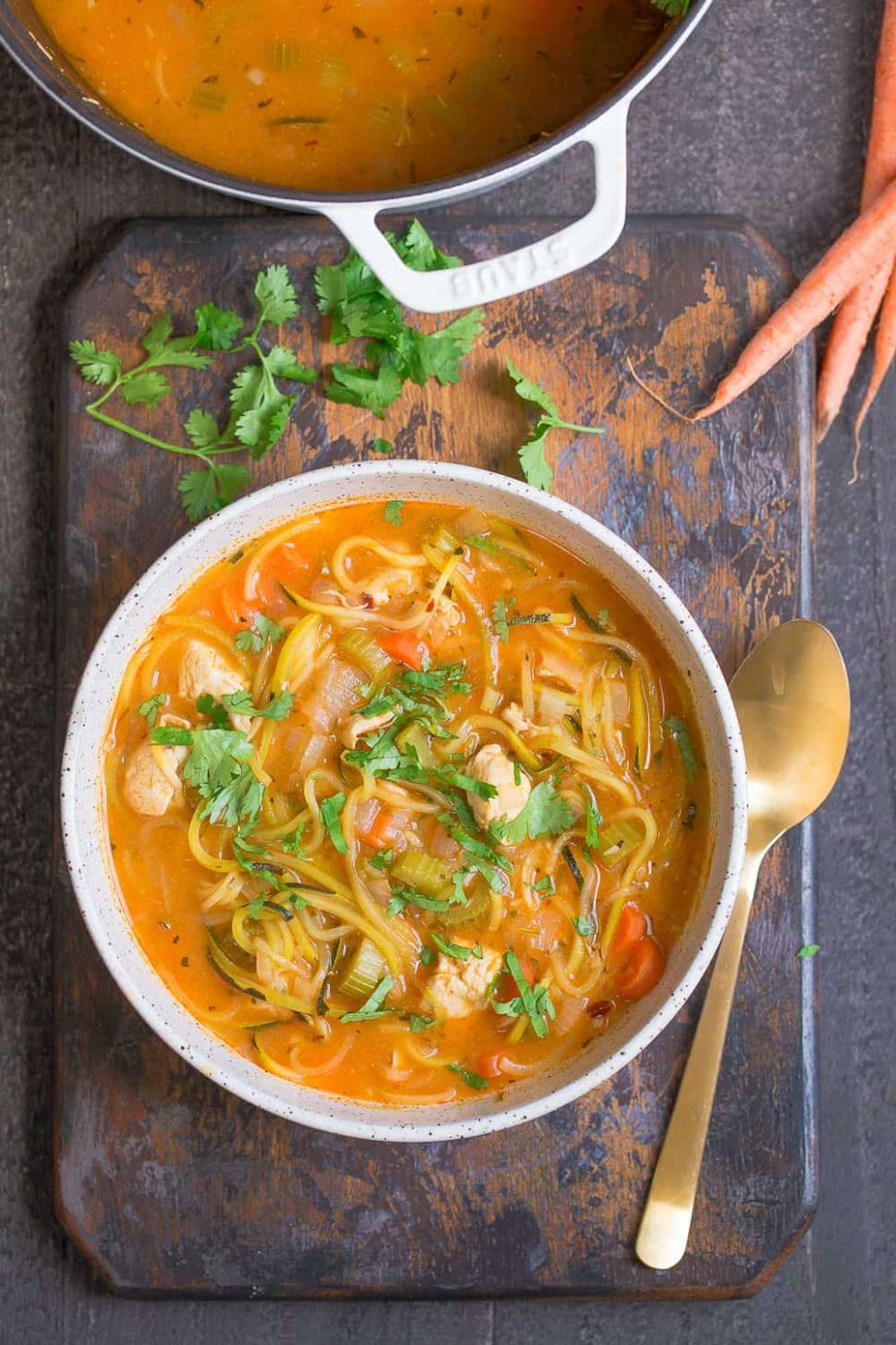 Spicy Chicken Zoodle Soup - Soup Recipes Spicy