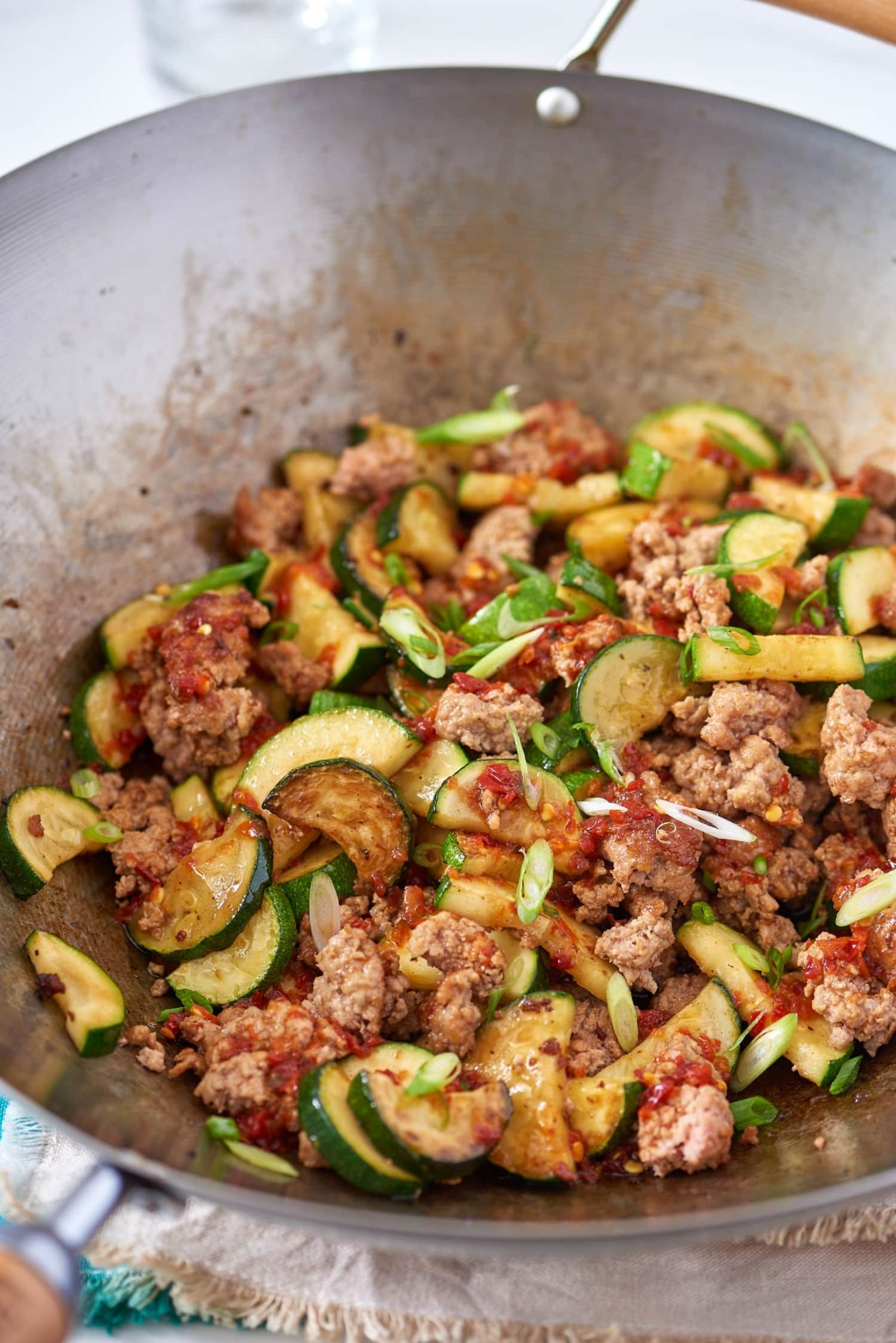 Spicy Ground Pork & Zucchini Stir-Fry