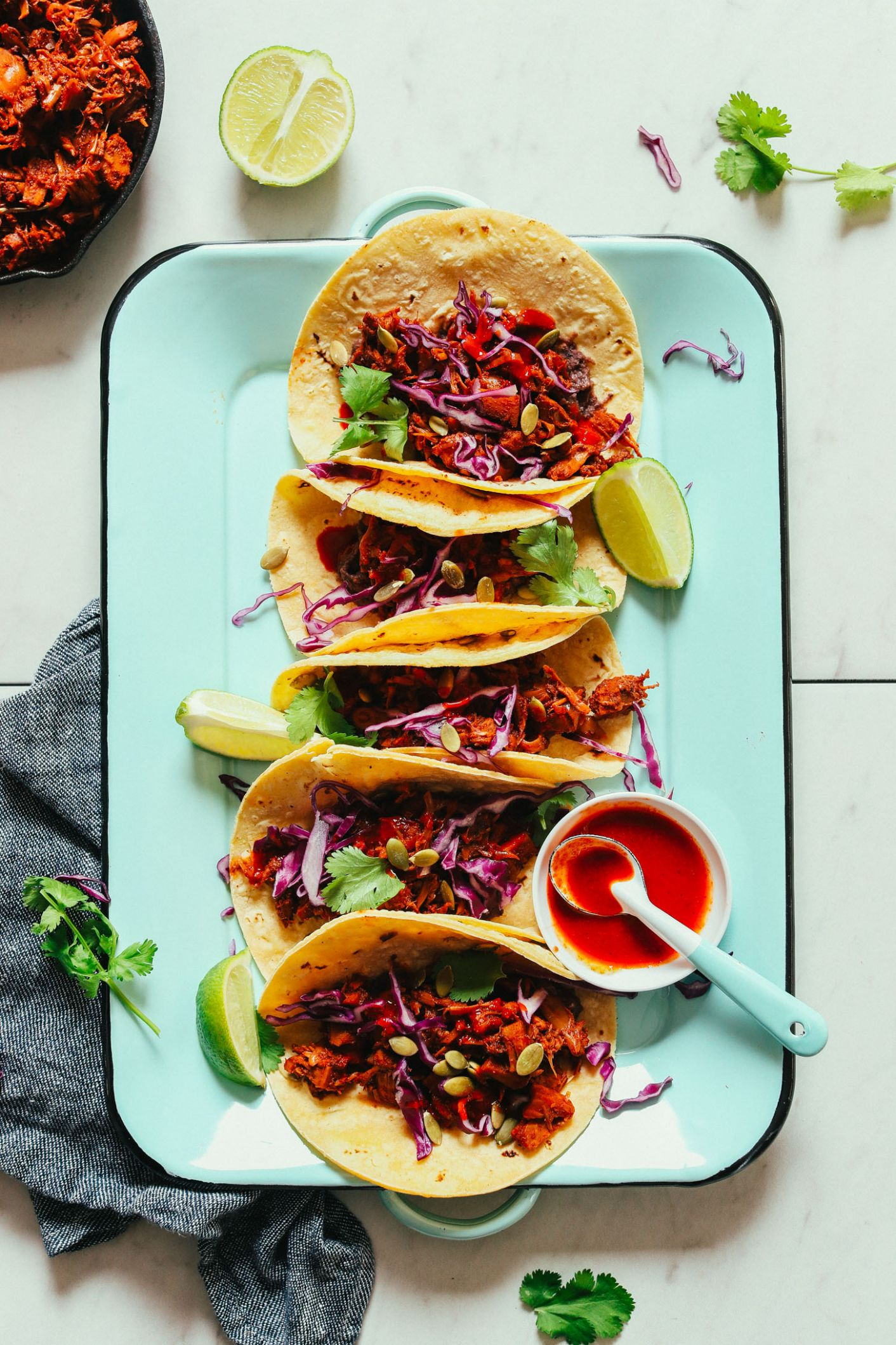 Spicy Jackfruit Tacos (8-Pot Meal!)