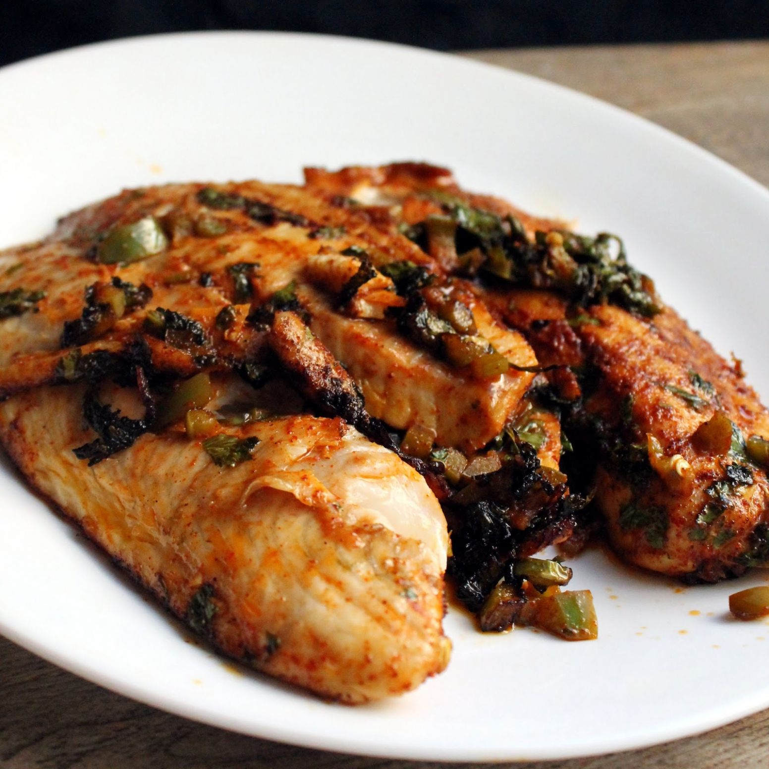 Spicy Marinated Grilled Tilapia - thestayathomechef