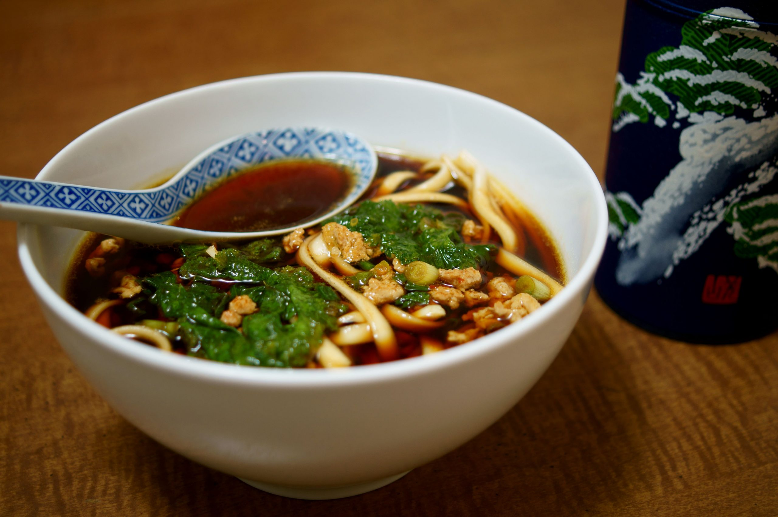 Spicy Pork and Mustard Green Soup - Recipe Pork Noodle Soup
