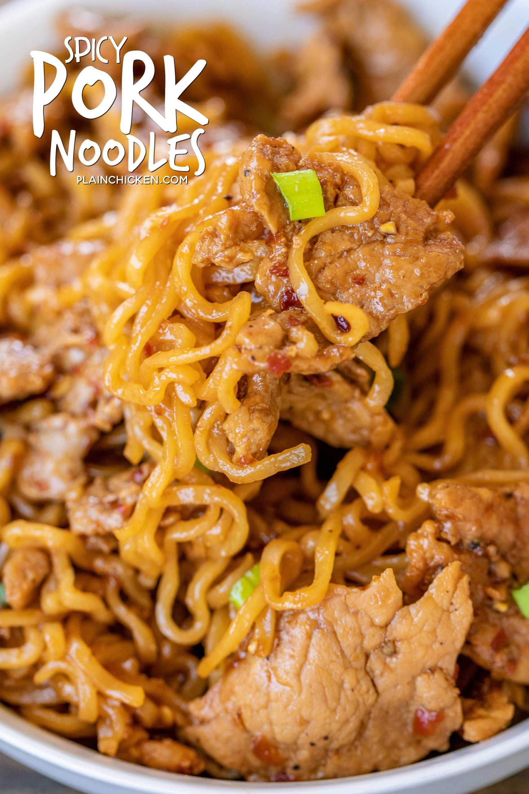 Spicy Pork Noodles - ready to eat in 11 minutes!!! Only 11 ..
